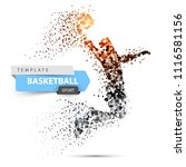 dot basketball illustration.... | Shutterstock .eps vector #1116581156