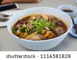 hot and spicy soup with pork... | Shutterstock . vector #1116581828
