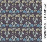 seamless ornate damask... | Shutterstock .eps vector #1116584069