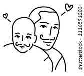 drawings father and baby cute... | Shutterstock .eps vector #1116591203