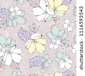 gentle spring floral seamless... | Shutterstock .eps vector #1116593543