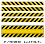 caution tape grunge set vector... | Shutterstock .eps vector #1116598760