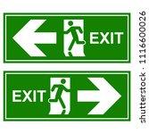 emergency exit signs set. man... | Shutterstock .eps vector #1116600026