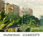 landscape  oil painting  hand... | Shutterstock . vector #1116601073