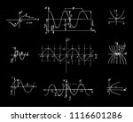 set with the parabola graphs... | Shutterstock .eps vector #1116601286