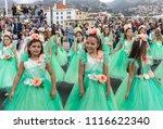 funchal  madeira  portugal  ... | Shutterstock . vector #1116622340