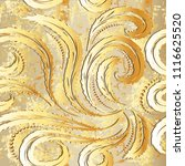 vintage gold baroque 3d vector... | Shutterstock .eps vector #1116625520