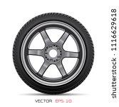 aluminum wheel car tire style... | Shutterstock .eps vector #1116629618