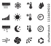 air conditioning icons. black... | Shutterstock .eps vector #1116634010