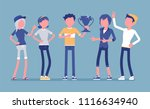 male winner and supporting... | Shutterstock .eps vector #1116634940