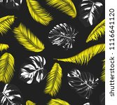 tropic seamless pattern with... | Shutterstock .eps vector #1116641120