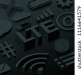 black 3d lte background with... | Shutterstock .eps vector #1116641579