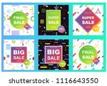 sale banner template design....   Shutterstock .eps vector #1116643550