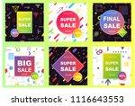 sale banner template design.... | Shutterstock .eps vector #1116643553