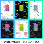 covers with minimal design....   Shutterstock .eps vector #1116643556