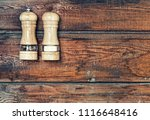 salt and pepper shakers on a... | Shutterstock . vector #1116648416