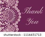 Thank You Card With Pink Lace...