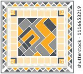 silk scarf with a geometric... | Shutterstock .eps vector #1116653219