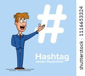 hashtag concept. promotion of... | Shutterstock .eps vector #1116653324