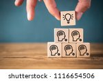 many people together having an... | Shutterstock . vector #1116654506