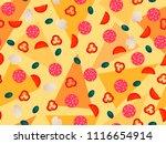 pizza seamless pattern ... | Shutterstock .eps vector #1116654914