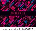 memphis seamless pattern.... | Shutterstock .eps vector #1116654923