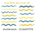 vintage brush stroke waves... | Shutterstock .eps vector #1116655793