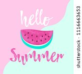 hello summer greeting card with ...   Shutterstock .eps vector #1116663653