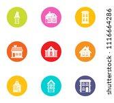 residence icons set. flat set...   Shutterstock .eps vector #1116664286