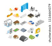 formation icons set. isometric... | Shutterstock .eps vector #1116664379