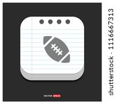 rugby ball icon   free vector...