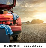 summer car and free space for... | Shutterstock . vector #1116668816