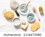 spa accessories   nut scrub ... | Shutterstock . vector #1116673580