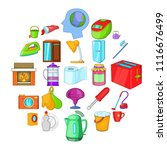 kitchen cleaning icons set.... | Shutterstock .eps vector #1116676499