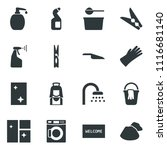 black vector icon set scoop... | Shutterstock .eps vector #1116681140