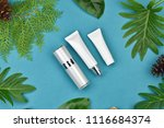 cosmetic bottle containers on... | Shutterstock . vector #1116684374