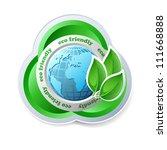 ecology concept vector icon... | Shutterstock .eps vector #111668888