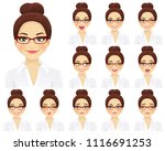 business woman with different... | Shutterstock .eps vector #1116691253