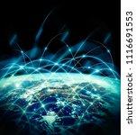 earth from space. best internet ...   Shutterstock . vector #1116691553