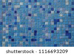 blue mosaic tiles. background... | Shutterstock . vector #1116693209