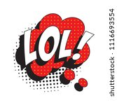 abbreviation lol   laugh out... | Shutterstock .eps vector #1116693554