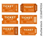 ticket set icon vector... | Shutterstock .eps vector #1116694316