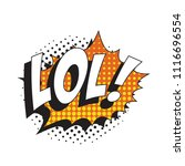 abbreviation lol   laugh out... | Shutterstock .eps vector #1116696554