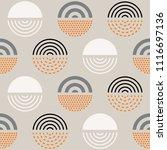 vector seamless mid century... | Shutterstock .eps vector #1116697136
