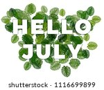 Text Hello July With Smooth...