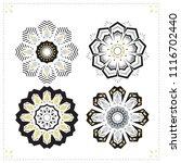 set of mandala tattoo vector | Shutterstock .eps vector #1116702440