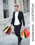 budget limit. people overspend... | Shutterstock . vector #1116705164