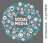 social media  background of the ... | Shutterstock .eps vector #111670850