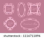 beautiful frames for greeting... | Shutterstock .eps vector #1116711896