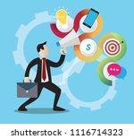 marketing seo set   flat design | Shutterstock .eps vector #1116714323